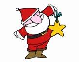 Babbo Natale con stella