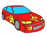 Auto con fiamme