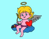 Cupido su una nuvola