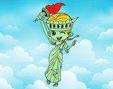 Statua della libertà manga