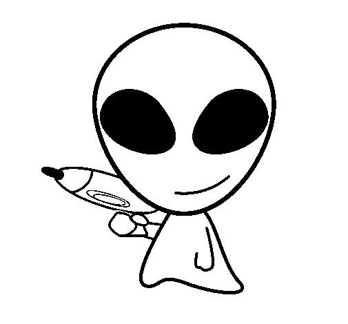 Disegno Di Alieno Ii Da Colorare Acolorecom