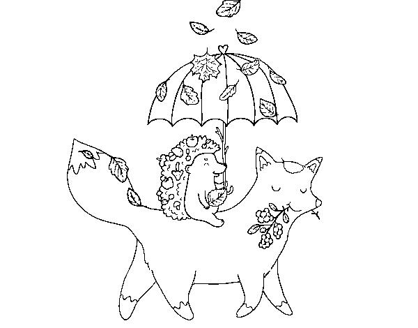 Disegno Di Animali E Autunno Da Colorare Acolorecom
