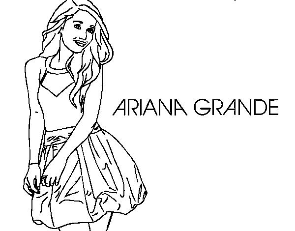 Disegno Di Ariana Grande Da Colorare Acolore Com