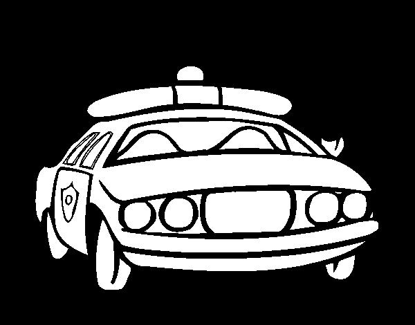 Disegno Di Auto Della Polizia Da Colorare Acolorecom