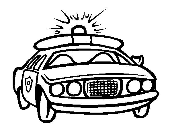 Disegno Di Auto Della Polizia Da Colorare Acolore Com