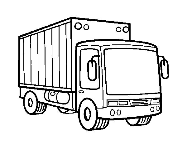 Disegno Di Camion Di Merce Da Colorare Acolorecom
