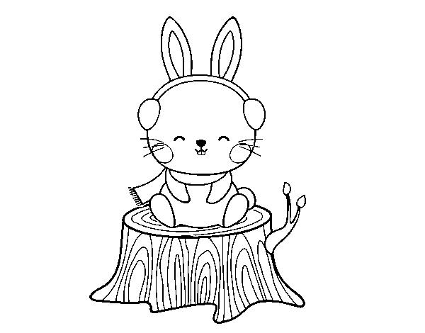 Disegno Di Coniglio Selvatico Riparato Da Colorare Acolore Com