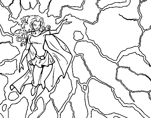 Disegno Di Eroina Tempesta Da Colorare Acolore Com