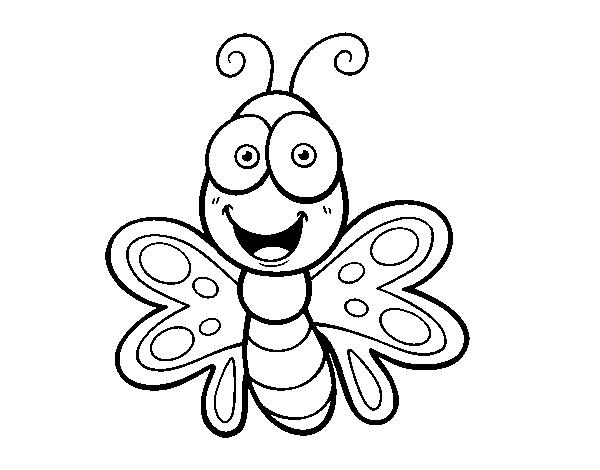 Disegno Di Farfalla Sorridente Da Colorare Acolore Com