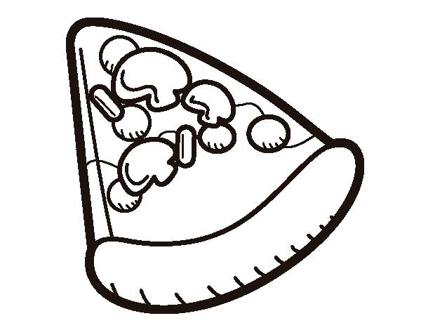 Disegno Di Fetta Di Pizza Da Colorare Acolorecom