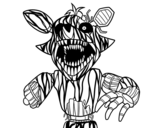 Disegno di Foxy terrificante di Five Nights at Freddy's da colorare