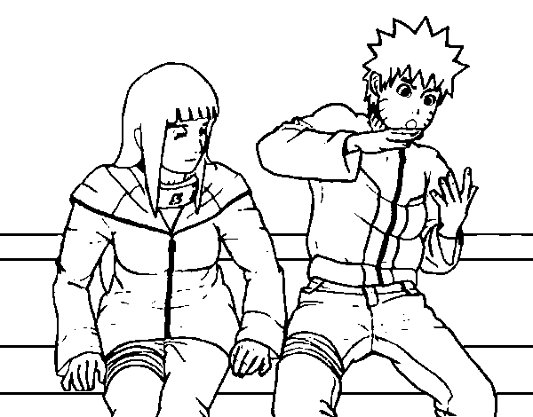 Disegno Di Hinata E Naruto Da Colorare Acolore Com
