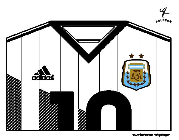 Disegno Di Maglia Dei Mondiali Di Calcio 2014 Dellargentina Da