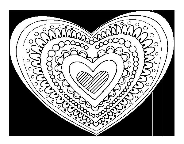 Disegno Di Mandala Cuore Da Colorare Acolorecom