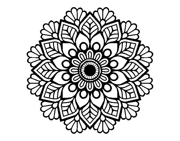 Disegno Di Mandala Di Primavera Da Colorare Acolore Com