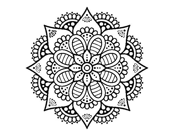 Disegno Di Mandala Fiore Di Primavera Da Colorare Acolore Com
