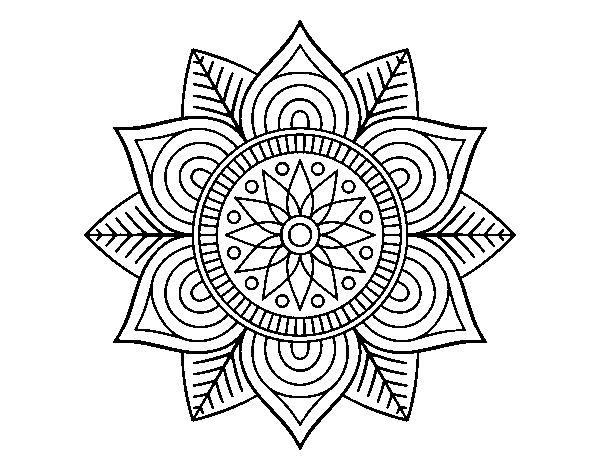 Fiori Mandala.Disegno Di Mandala Fiore Stella Da Colorare Acolore Com