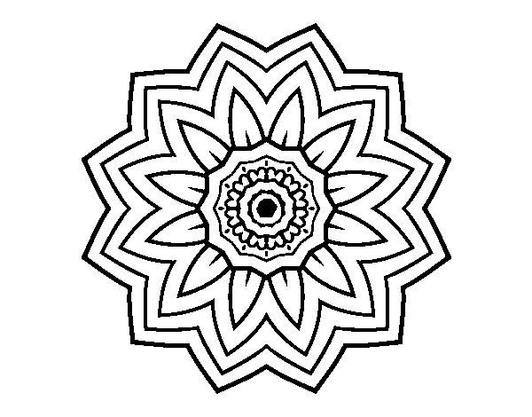 Disegno Di Mandala Fiori De Girasole Da Colorare Acolore Com