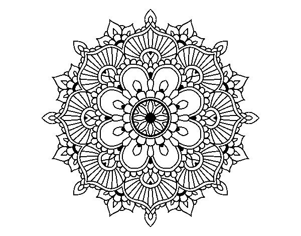 Disegno Di Mandala Flash Florale Da Colorare Acolore Com