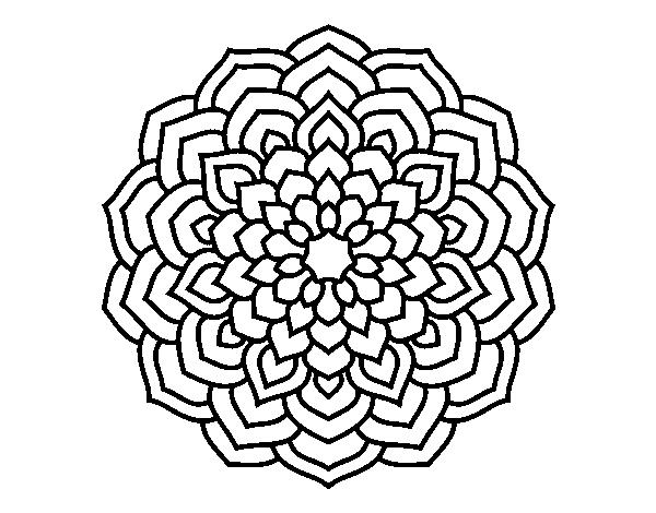 Disegno Di Mandala Petali Di Fiori Da Colorare Acolore Com