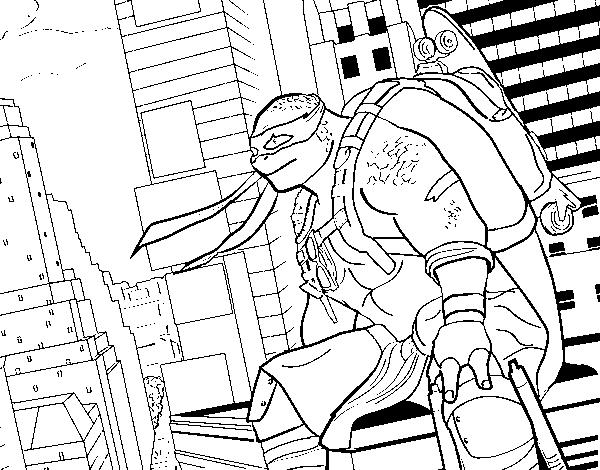 Disegno Di Michelangelo Nija Turtles Da Colorare Acolore Com