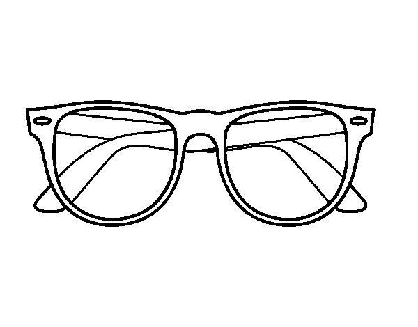 Disegno Di Occhiali Da Sole Da Colorare Acolorecom
