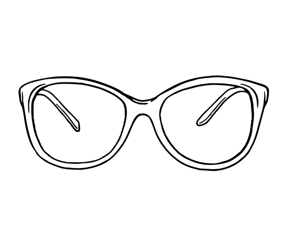 Disegno Di Occhiali Moderni Da Colorare Acolorecom