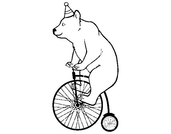 Disegno Di Orso In Bicicletta Da Colorare Acolore Com