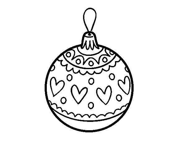Disegno Di Palline Di Natale Timbrato Da Colorare Acolorecom