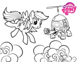 Disegno di Rainbow Dash and Tank Turtle da colorare