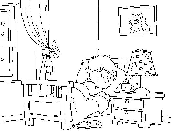 Disegno di stanza da colorare for Disegno stanza