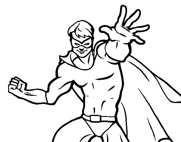 Disegno Di Supereroe Mascherato Da Colorare Acolorecom