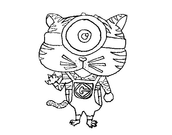 Disegno Di Tigre Minion Da Colorare Acolore Com