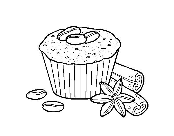 Disegno Di Torta Di Caffè Da Colorare Acolorecom