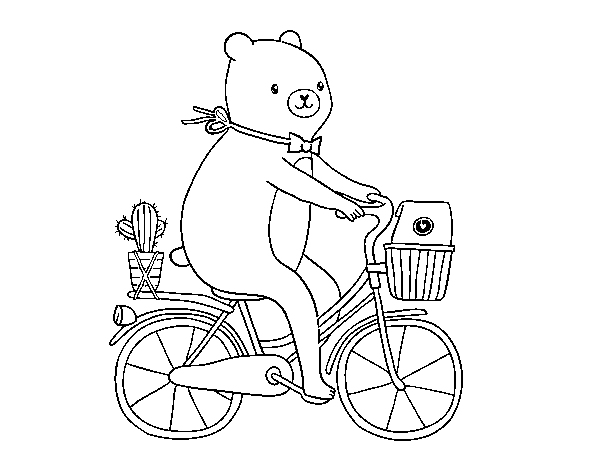 Disegno Di Un Orso In Bicicletta Da Colorare Acolorecom