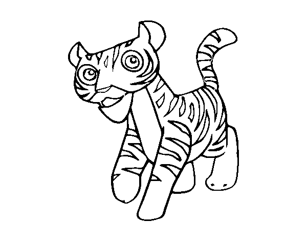 Disegno Di Un Tigre Da Colorare Acolore Com