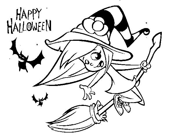 Giochi Di Disegni Da Colorare Di Halloween.Disegno Di Una Strega Di Halloween Da Colorare Acolore Com