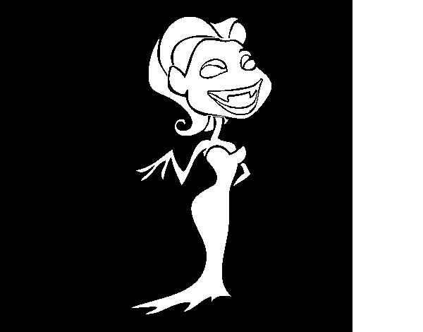 Disegno Di Vampiro Femmina Da Colorare Acolorecom